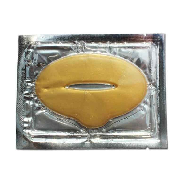 3 יח'\חבילה סופר שמנמן ורוד קריסטל קולגן לשפתיים מסכת רפידות לחות מהות אנטי הזדקנות קמטים תיקון שפתי