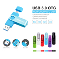 WSD Rotação USB 3.0 De Alta velocidade OTG usb flash drive u disk 32 GB 16 GB 8 GB Pen drive Memory stick presente de flash para o Telefone Android