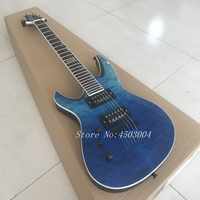 6 string left hand electric guitar free transport blue cloud picture, for real shooting.