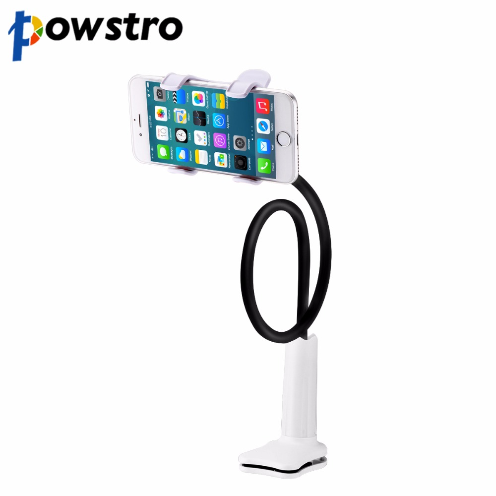 Powstro Phone Holder Stand Flexible Long Arm Holder Desktop Bed Lazy Bracket Mobile Stand For E-readers For Cell Phones Tablet