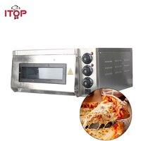 ITOP 4 шт. печь для пиццы 2 кВт Коммерческая электрическая печь для пиццы Однослойная Профессиональная выпечка в духовке/хлеб/Пицца с таймером