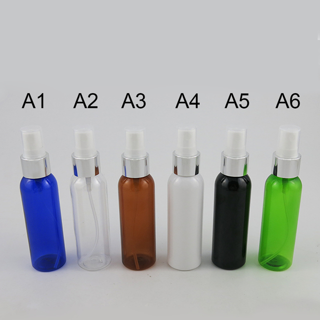 ae99bbd42eae US $34.79 10% OFF|50 x 60ml Amber Black Blue Green Clear White Pet Plastic  Spray Bottles Empty Refill 2 Oz Mist Pump Perfume Travel-in Refillable ...