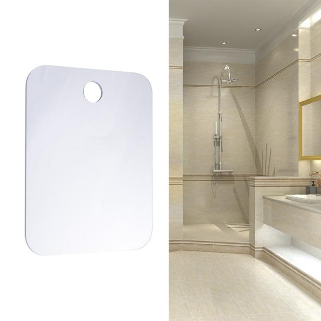 Free Shipping 1pc Anti Fog Fogless Shower Mirror Shave Shaving Mirrors Easy To Clean Bathroom