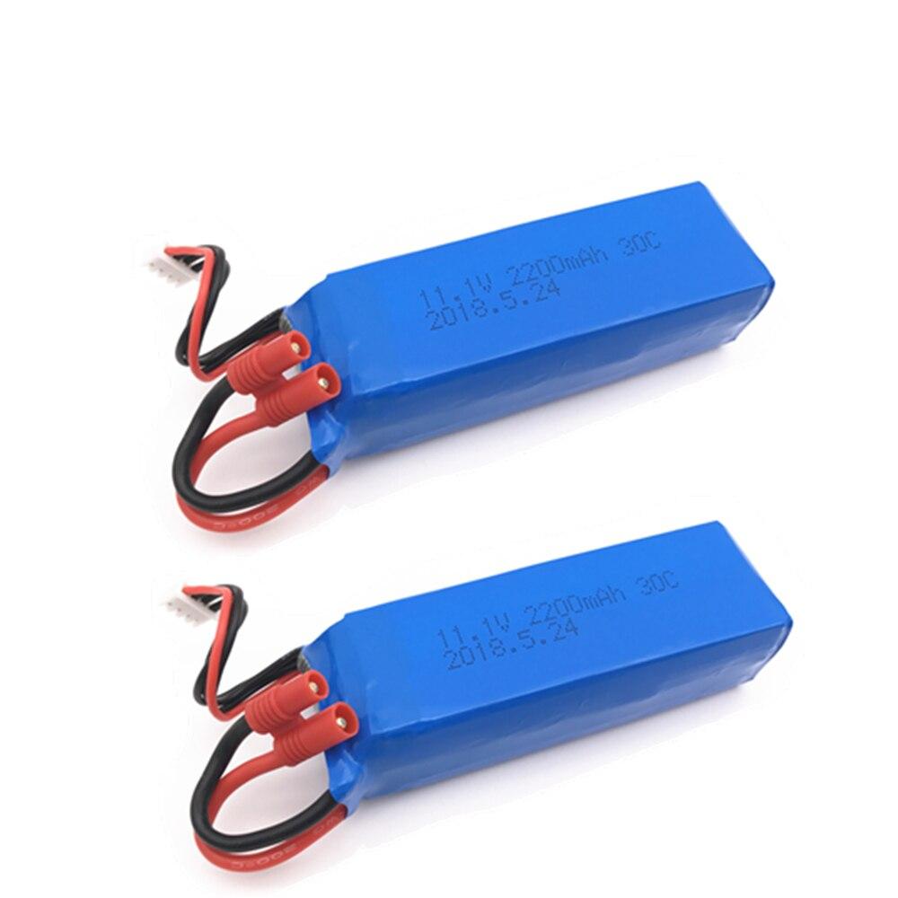 1/2 piezas actualizadas para Bayangtoys X16 X21 X22 11,1 v batería 2200mah para batería X16 X21 para Rc Quadcopter espaà a