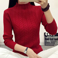 women fashion 2017 spring sweaters basic turtleneck soft casual knitting winter Pullover KB924