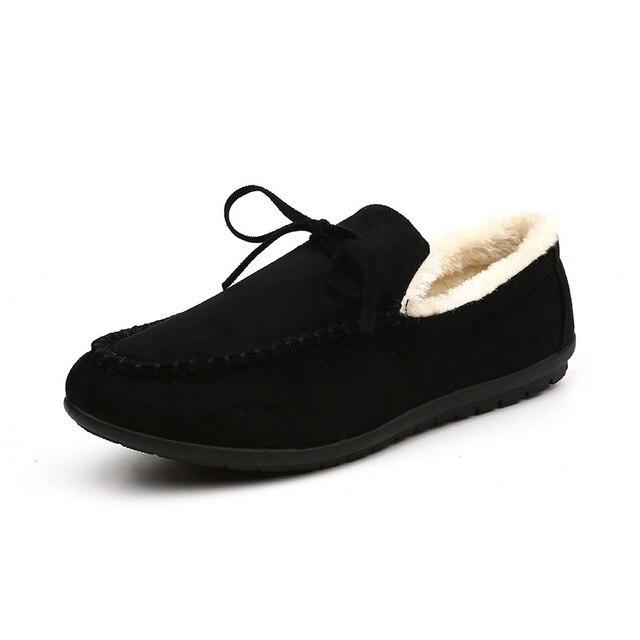 Зима Мужчины Балетки Кожа Замша Мокасины Обувь Мужчины Квартиры Мокасины Повседневная Обувь Обувь Человек Меховой Обуви 2016 Новый