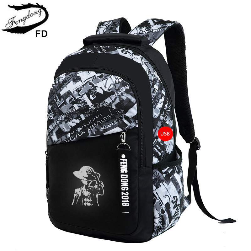 FengDong brand fashion girl schoolbag backpack usb bag children school bags  for boys kids cartoon backpack for girls bookbag -in School Bags from  Luggage ... a2bf89bbb1