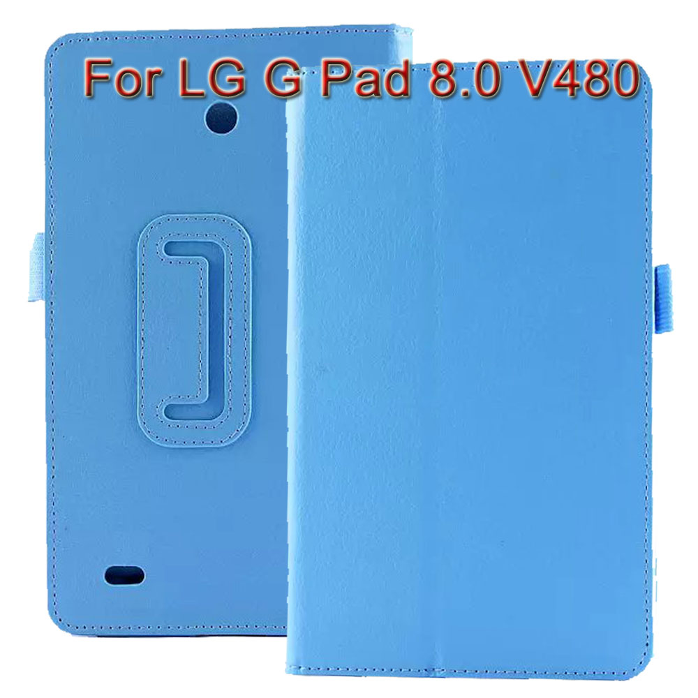 3 in 1 ! Pu Leather Stand Tablet Cover Case For LG G Pad 8.0 V480 V490 + Screen Protector + Stylus