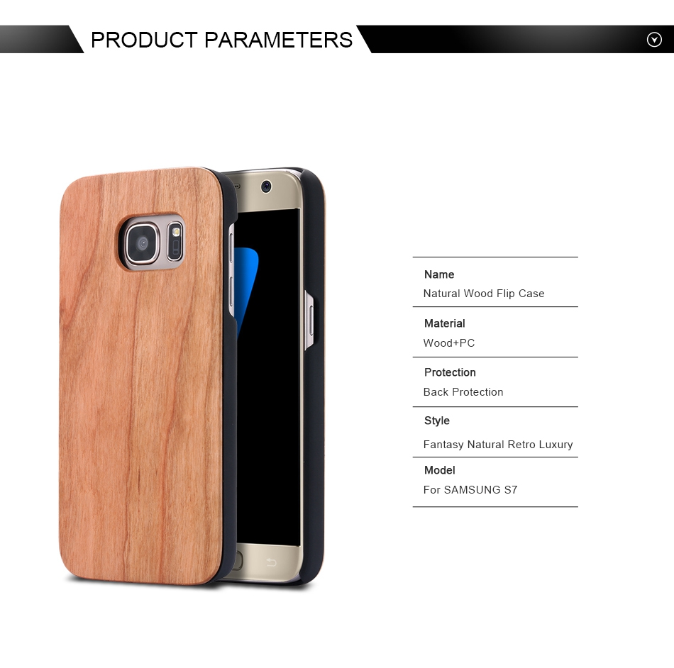 For Samsung Galaxy S8 Plus Real Wooden Case For Samsung S8 Galaxy S7 S6 Edge Back Cover (2)