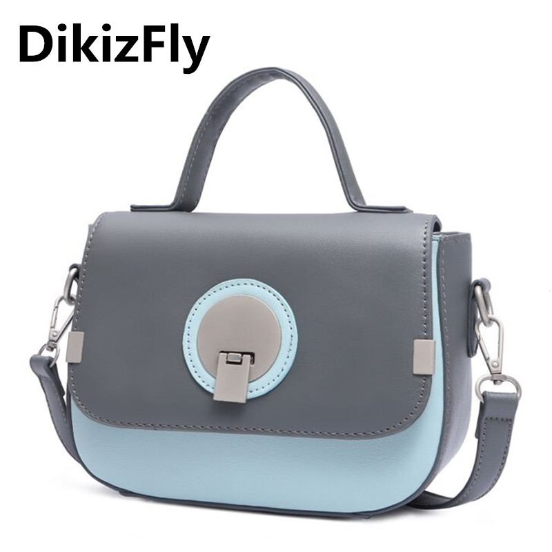 Fashion panelled women bags japan and korean style shoulder bag women leather handbags messenger Korean style fashion girl bag