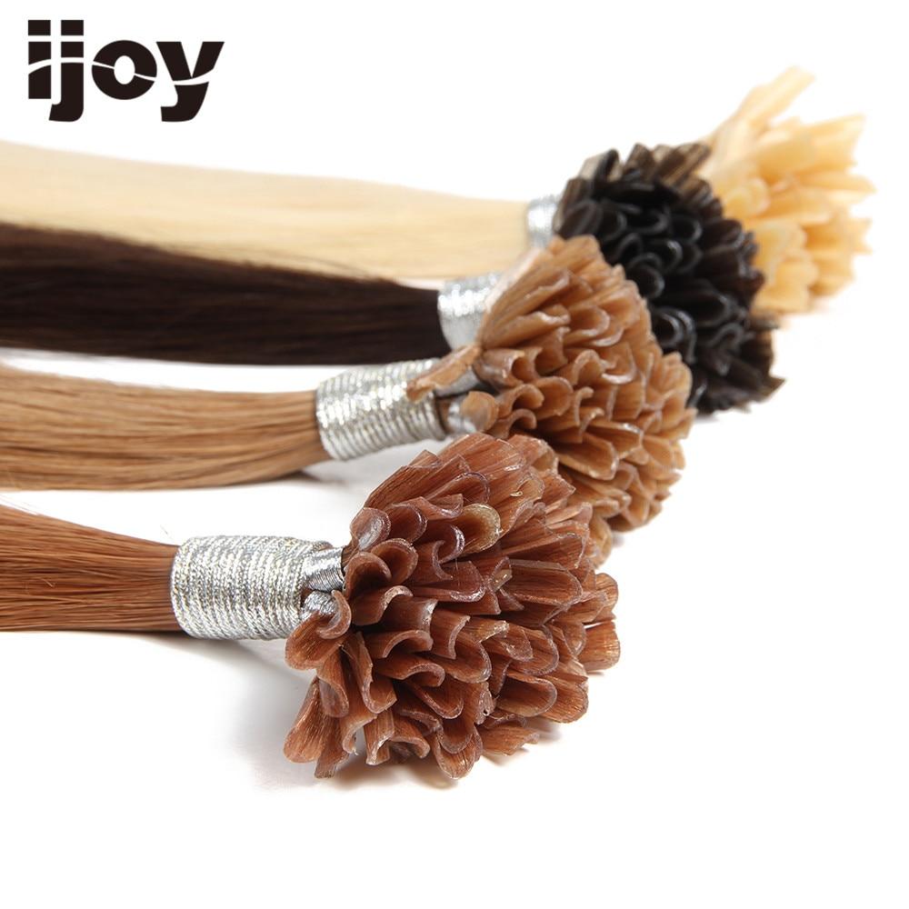 IJOY # 30 Remy Silky Straight Nail U Tip Menselijk Haar Extensions - Mensenhaar (voor wit) - Foto 4