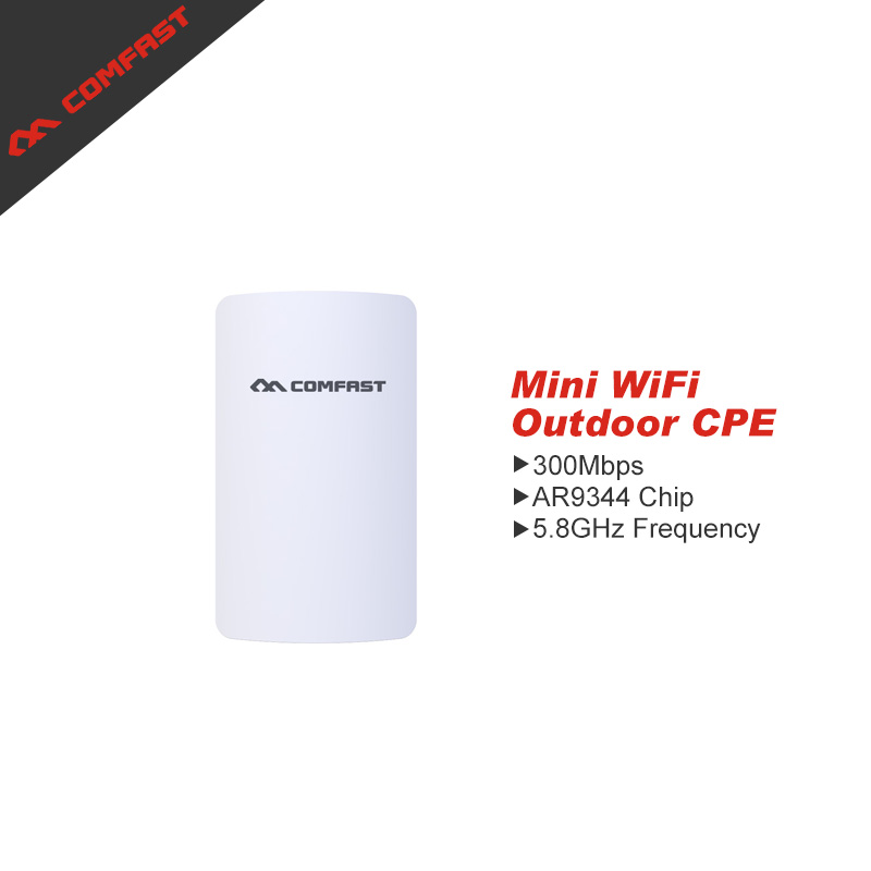 ФОТО Long Distance CPE Mini WIFI Router Wireless Outdoor AP Router WIFI Repeater 5.8Ghz Extender Access Point AP Bridge Router POE