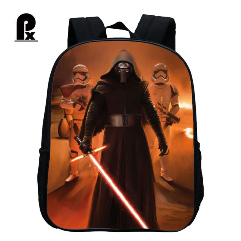 Pacento Star Wars Backpack Boys Kindergarten Bag Cartoon Baby Backpack Black Waterproof Shoulder Bags Kids Nursery Schoolbags