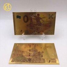 W009 1 pc хороший Россия Спорт для банкнот Чемпион сборной Франции 0 Банкноты евро в 24 k золотые деньги для коллекции