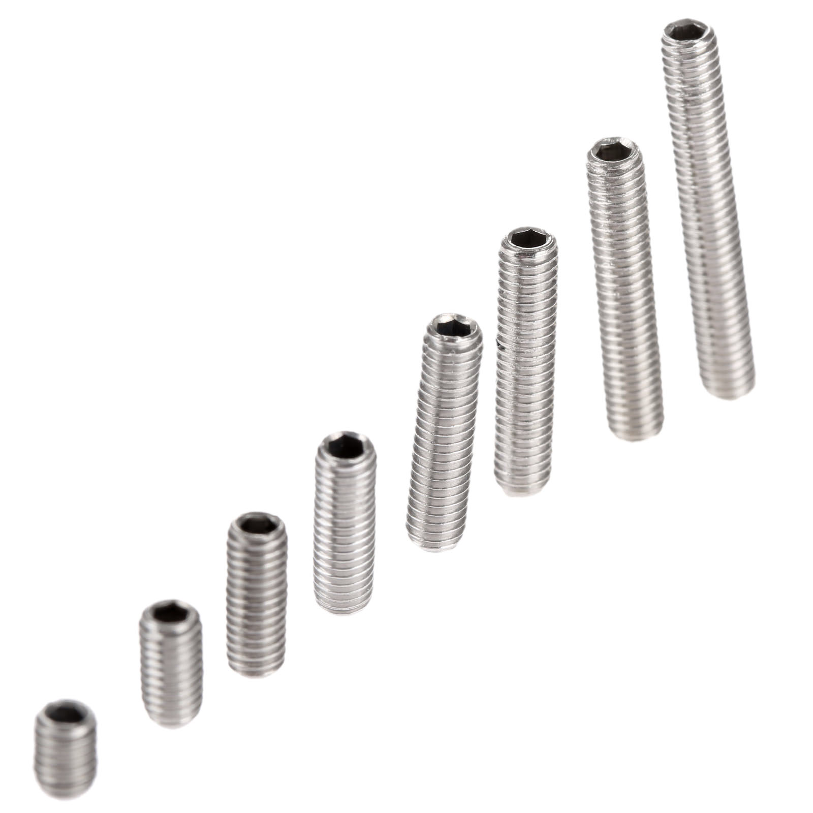 50Pcs M3 Stainless Steel Allen Head Hex Socket Grub Screw Bolts Nuts Fasteners M3 Screws Hardware M3 x4/6/8/10/12/14/16/20mm 50pcs m3 6 8 10 12 colourful aluminum hex socket cap head machine screw