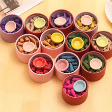 30pcs sleepFloral Incense Cone With Tray Colorful Fragrance Scent Tower Incense Mixed Scent Aromatherapy Fresh Air Aroma Spice scent by scent sweet sleep scent by scent 30g