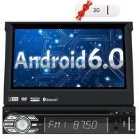 Single Din Android Autoradio GPS Car DVD Player 6 0 Stereo Headunit Support Wifi Bluetooth USB