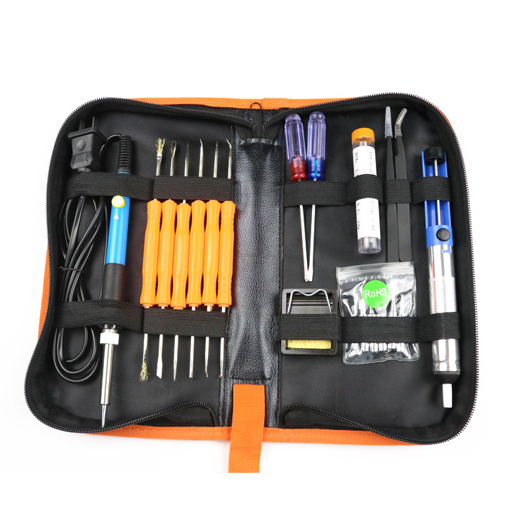Soldering Iron 60W Adjustable Temperature Electric Solder Iron Kits 110V / 220V Desoldering Pump Tin Wire Pliers Welding Tools