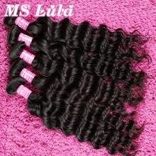 FREESHIPPING 7A Brazilian hair weave bundles Natural wave 3pcs lot for a full head ms lula hair Brazilian virgin hair