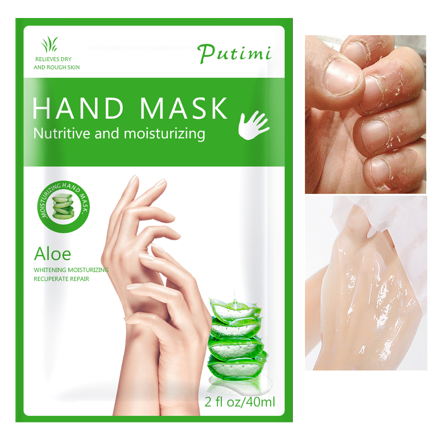 Aloe Hand Mask Exfoliating Masks for Hand Care Moisturizing Spa Gloves Whitening Hand Cream Hand Scrub Remove Dead Skin Care