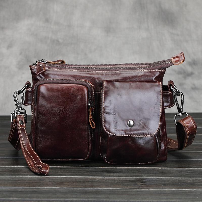 Retro Genuine Leather Men Bag Classic Handbag Messenger Shoulder Bag Travel Business Laptop Bag Briefcase 247 classic leather
