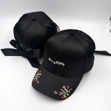 Summer Vintage Embroidered Flower Baseball Caps Satin Face Sunshade  For Women Hip Hop Bowknow Hats Adjustable