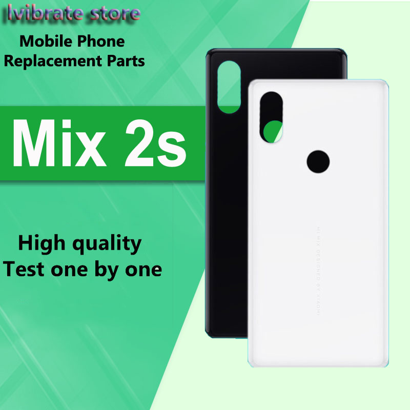 New glass <font><b>Battery</b></font> Back Rear Cover Door Housing For xiaomi <font><b>mi</b></font> <font><b>Mix</b></font> <font><b>2s</b></font> <font><b>Battery</b></font> Cover For xiaomi <font><b>mi</b></font> Mix2s shell Replacement 5.99