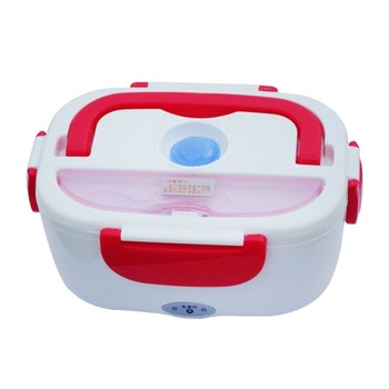 Portable 1.05L Electric Heating Lunch Box With Car Plug Food Warmer For School Office Home Plastic Dinnerware soccer-specific stadium