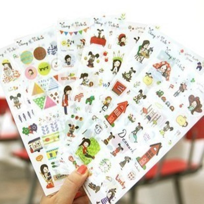 dog and me PET clear sticker set for scrapbook cellphone office notebook decoration stationery craft image