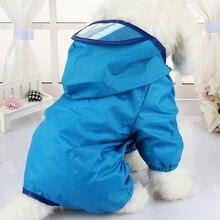 Одежда для собак дождевик водонепроницаемый комбинезон товары для домашних животных пончо дождевик зонтик пальто для чихуахуа CW023