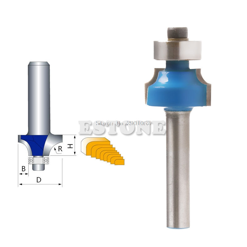 New 1/4 Radius 1/4 Shank Round Over Beading Edging Router Bit Woodworking Tool -B119 1pc 1 4 shank round over router bit 3 4 radius woodworking cutter for power tool blue