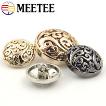 Meetee 10pcs Fashion Men Suit Buttons Coat Jacket Metal Button For Clothing 20mm 22mm 25mm D7-3+ DIY Sewing Accessories