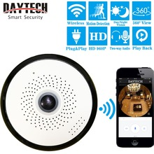 DAYTECH Wireless IP Camera WiFi Surveillance Camera HD 960P 360 Degree Panoramic Camera Motion Detection IR Night Vision VR01
