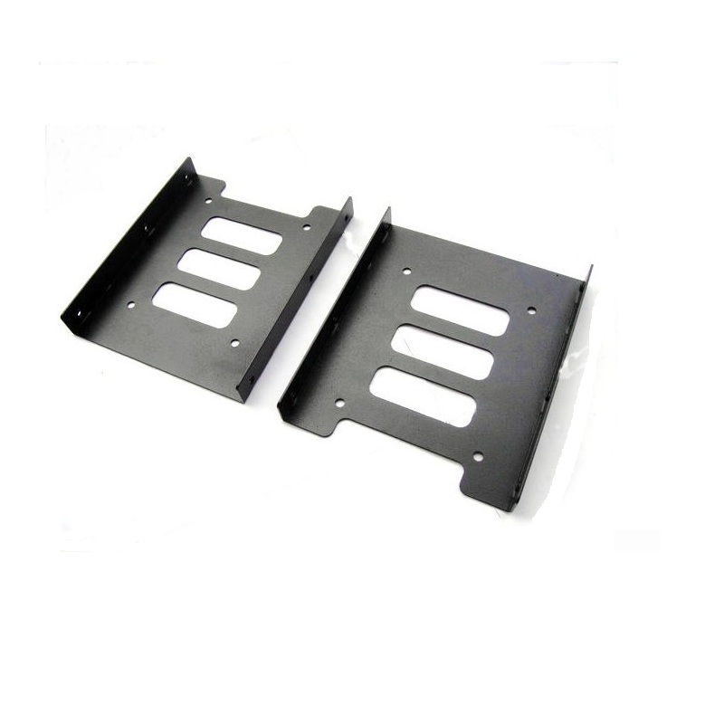 """Black 2.5"""" SSD to 3.5"""" Bay Hard Drive HDD Mounting Dock Tray Bracket Adapter"""