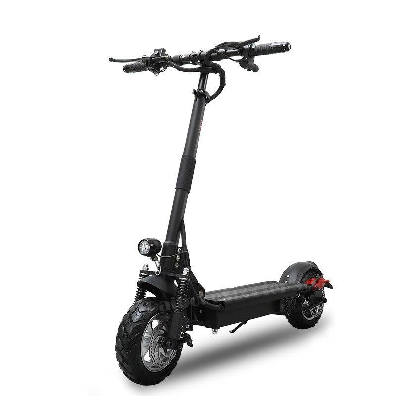 Potente Scooter Elettrico 1000 W 48 V Pieghevole per adulti 52 V Pieghevole Calcio Scooter con sede A Due Ruote Monopattini a motore elettrico