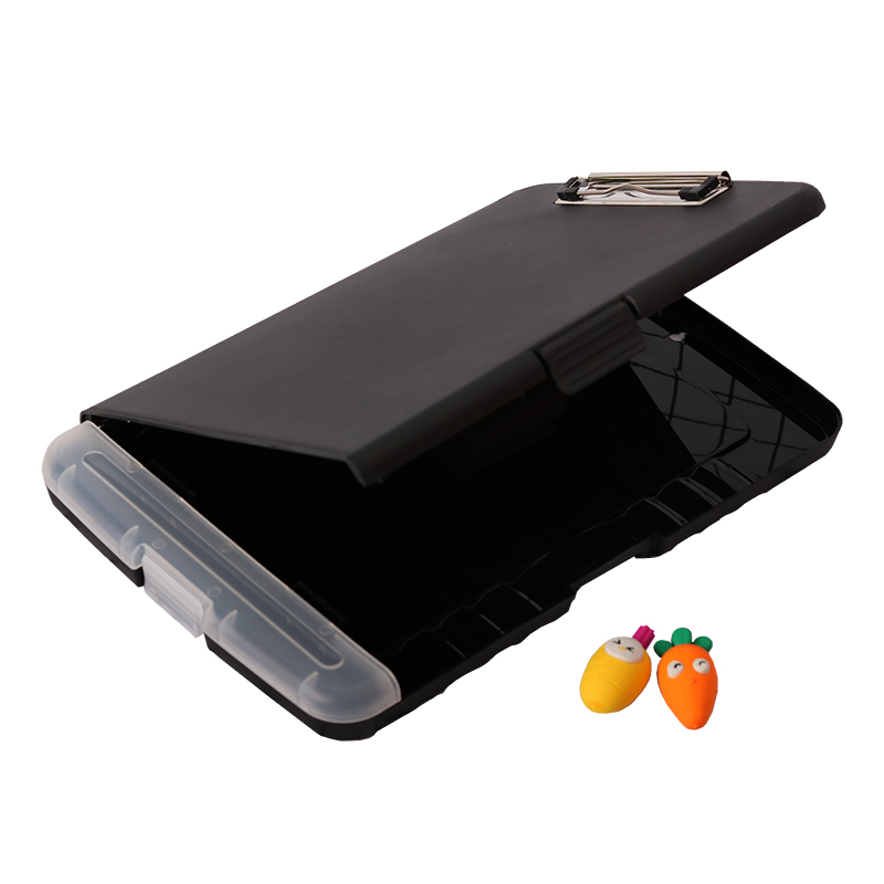 Image 2 - 1 шт., черный классический Многофункциональный органайзер для файлов, пластиковая коробка для буфера обмена, папка для файлов, ручка, канцелярские принадлежности JB15Папка для файлов    АлиЭкспресс