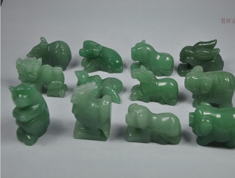 Amazing Chinese Old Culture 12 animals of the Chinese Zodiac For Natural 100% DongLing 50MM