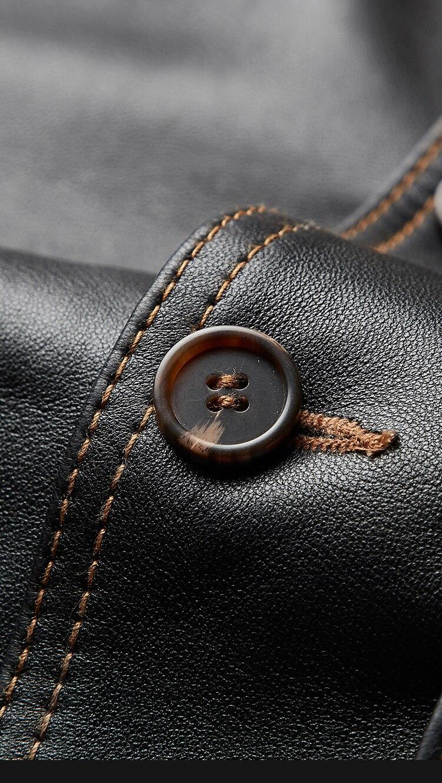 HTB1 CsbXOfrK1RjSspbq6A4pFXao Free shipping,mens classic A1 leather Jacket,vintage genuine sheepskin coat.thin soft black men jackets.flight clothing
