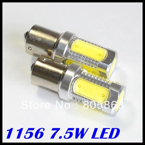 2 x 1156/Ba15s led light High Power 7.5W LED Back Up Backup Reverse Light Bulb Lamp White free shipping