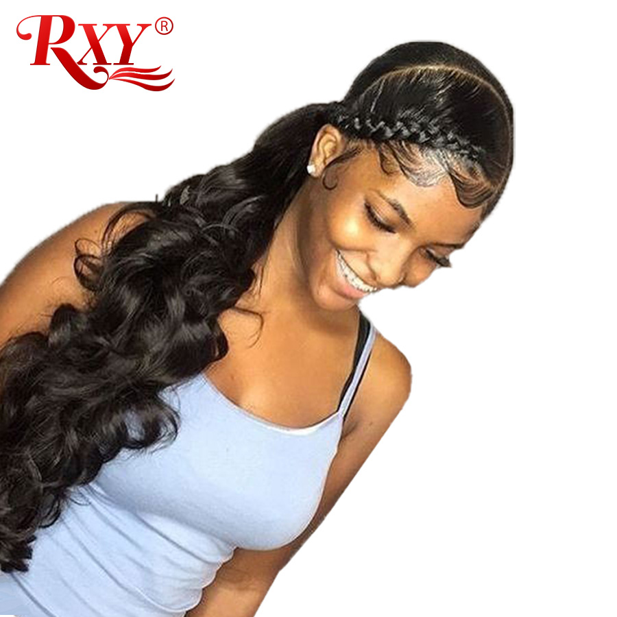 360 Lace Frontal Wig Pre Plucked With Baby Hair Body Wave Lace Front Human Hair Wigs For Women RXY Remy Black Lace Front Wigs (1)