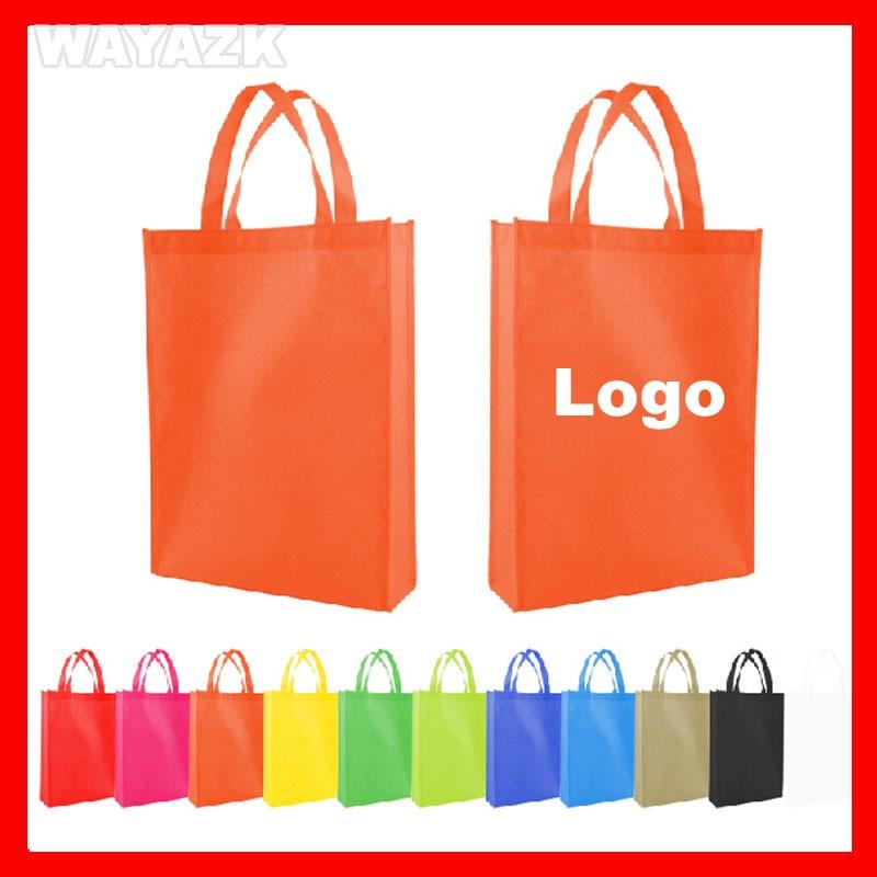 500pcs lot customized eco reusable non woven bag logo