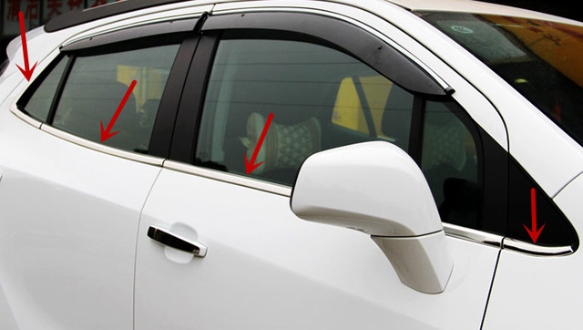 Stainless Steel Bottom Window Frame Sill Trim 8pcs For Vauxhall Opel ...