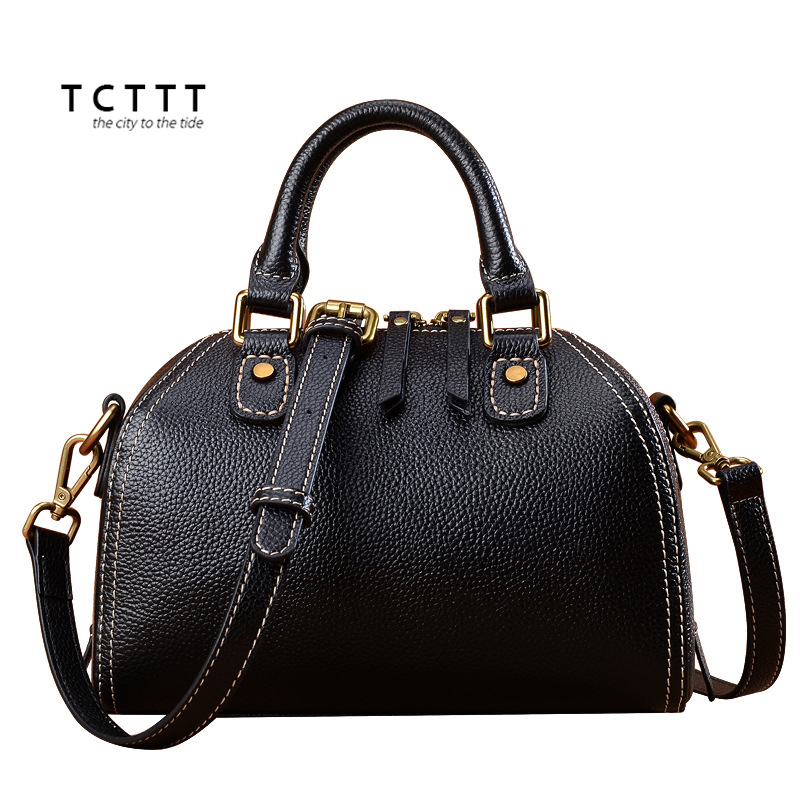 цена TCTTT Genuine leather women's Shoulder bags Fashion Female Crossbody Handbags High Quality totes designer Casual Bolsas Feminina