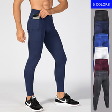 Men's Running Fitness Workout Gym Sports Long Pants Tight Elastic Quick Fast Dry Compression Sportswear Trousers Leggings 1070