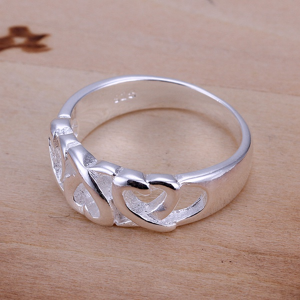 hot sell factory price Silver color Wedding weomen lady Ring , Jewelry nice cute charming fashion Free shipping R090 2