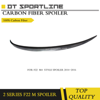 F87 M2 Carbon Fiber Rear Trunk Wing Spoiler for BMW F87 F22 220i 228i M235i 2014 2016 M P Style Rear Lip Wing Boot Spoiler