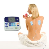 2 Channels Digital Therapy TENS Muscle Pain Massage Machine W 4 Pads Acupuncture Pen For Physical