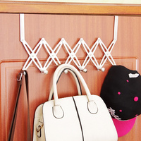 Creative Retractable Stainless Steel Over Door Hook Nail Incognito Free Hanger Storage Rack Shelf Organizer Home