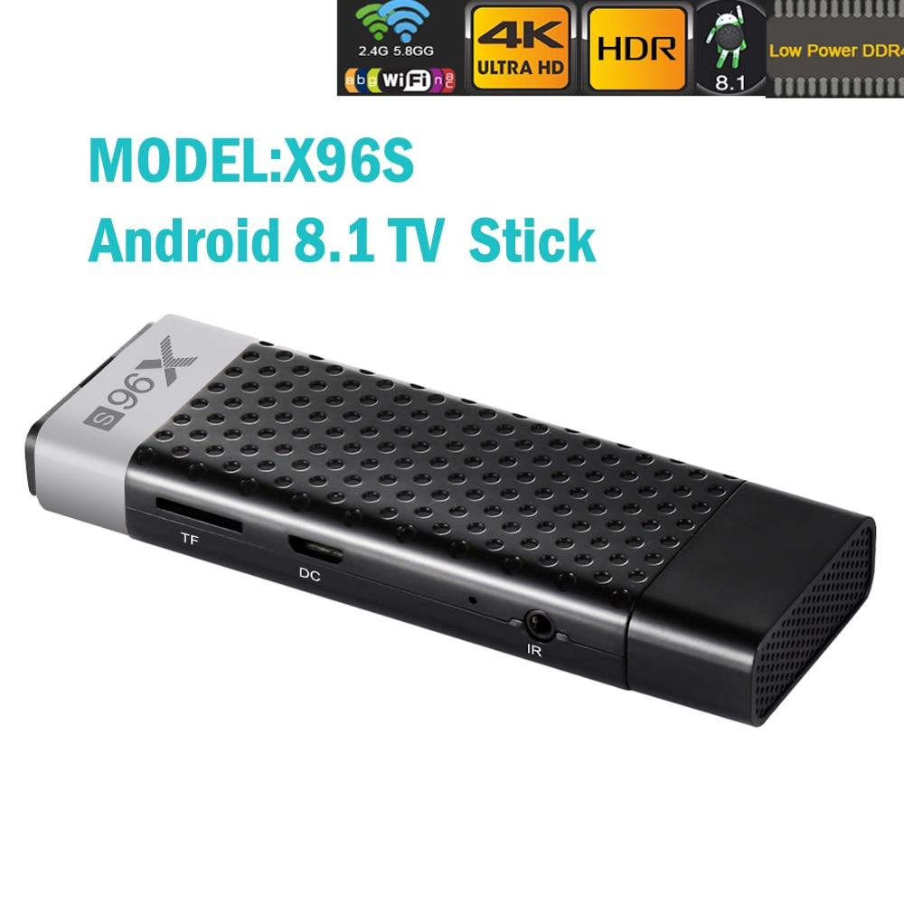 High quality Android 8 1 Smart TV Dongle Stick Box X96S 2GB 16GB S905X2 4K HD