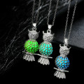 10PCS/LOT Wholesale Glow In The Dark Cute Owl Animal Hollow Luminescent  Pendant Glowing For Women Jewelry  Necklaces & Pendants
